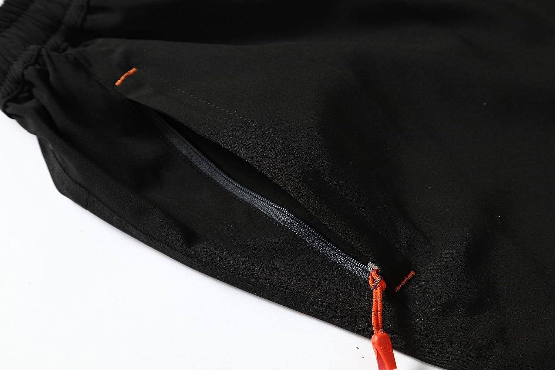 Donhobo Short de sport l/éger /à s/échage rapide pour homme avec poches zipp/ées