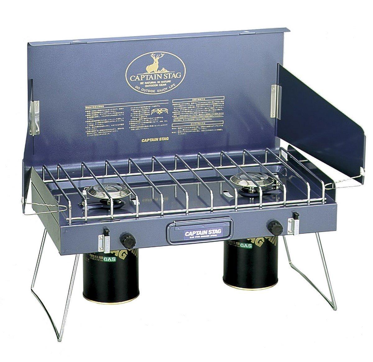 キャプテンスタッグ バーベキュー BBQ用 ステイジャーコンパクトガスバーナーコンロM-8249
