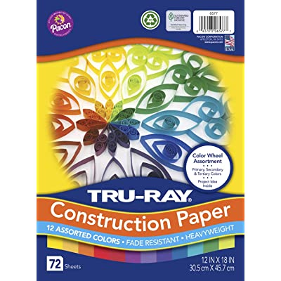 Tru-Ray Color Wheel Assortment, 12 x 18 Inches, Assorted Colors, Pack of 72 (P6577): Industrial & Scientific