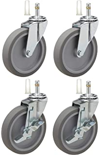 Fits Models 9T42 Set of 4 5 Caster Replacement for Rubbermaid Mobile Shelves 9T43 9T44