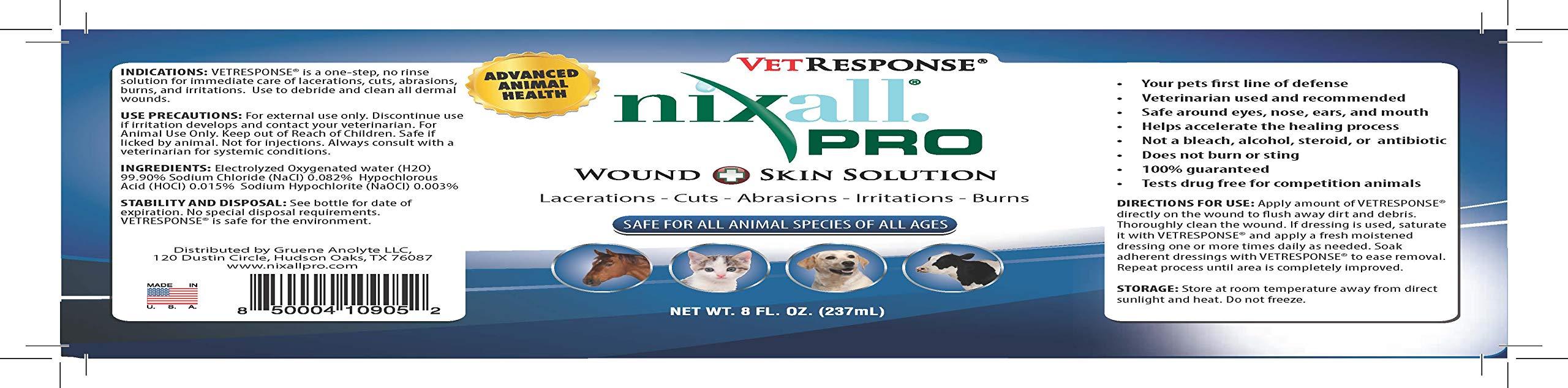 NixallPRO VetResponse Wound & Skin 16 oz Spray by NixallPRO
