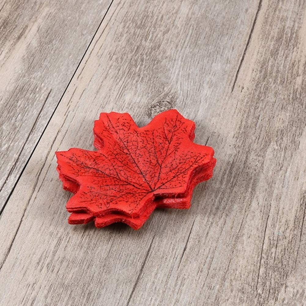Events and Decorating Green Verlike Autumn Fall Artificial Maple Leaves for Weddings