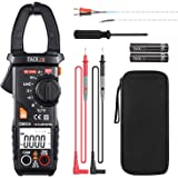 Clamp Meter, Digital Multimeter 600 Amp TRMS 6000 Counts NCV with AC Current AC/DC Voltage Test Resistance Continuity Capacit