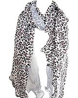 Leopard Animal Print Shawl Long Scarf Light Sheer Tonal Accent