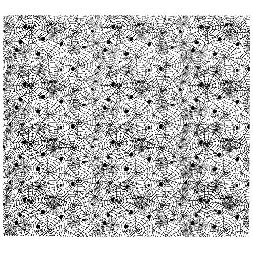 Spider Web Black Cocoa Butter Chocolate Transfer Sheet]()