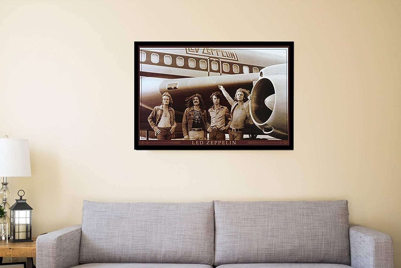 Led Zeppelin Classic Rock Band 3D Poster Wall Art Decor FramedMusic Posters