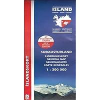 Island. Südost 1 : 300 000: Generalkarte Islandskort (Mal og menning): South East (Maps of Iceland)