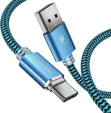 DUX DUCIS Cable USB Type C [1.5M], Câble Huawei P20 P20 Lite P20 Pro, Durable Nylon Tressé USB 2.0 Type C Chargeur RapideSuper ChargeCâble de