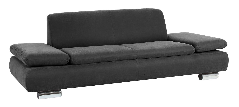 Max Winzer 287130002051714 Sofa Tournai 2.5-Sitzer samtiges Flachgewebe, anthrazit
