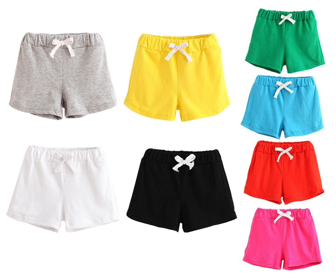 2-6 Years Cotton Toddlers Hot Weather Short Pants Unisex Clothing Kids Shorts Bottoms (2T(2-3 Years), Black)
