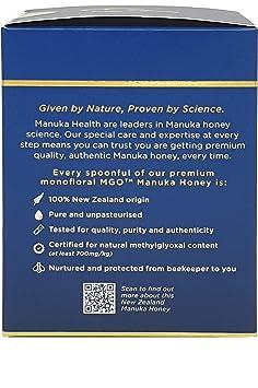 Amazon.com : Manuka Health - MGO 700+ Manuka Honey, 100% Pure New Zealand Honey, 8.8 oz (250 g) ... (3 Bottle) : Grocery & Gourmet Food