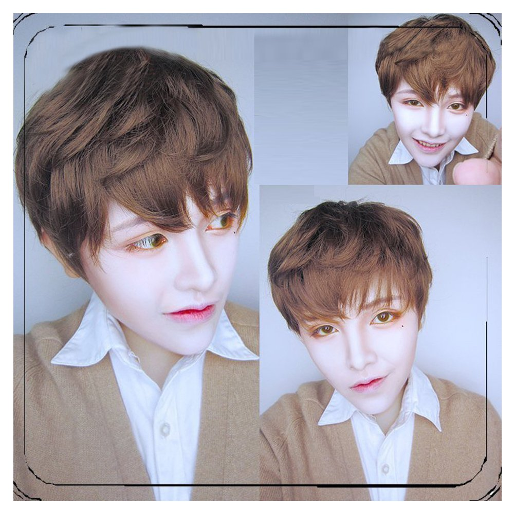 35cm Light Brown Wig Cosplay Original Exclusive Brother Handsome Guy Male Models Lolita Harajuku Male Short Wig by CHC FAIRY (Image #1)