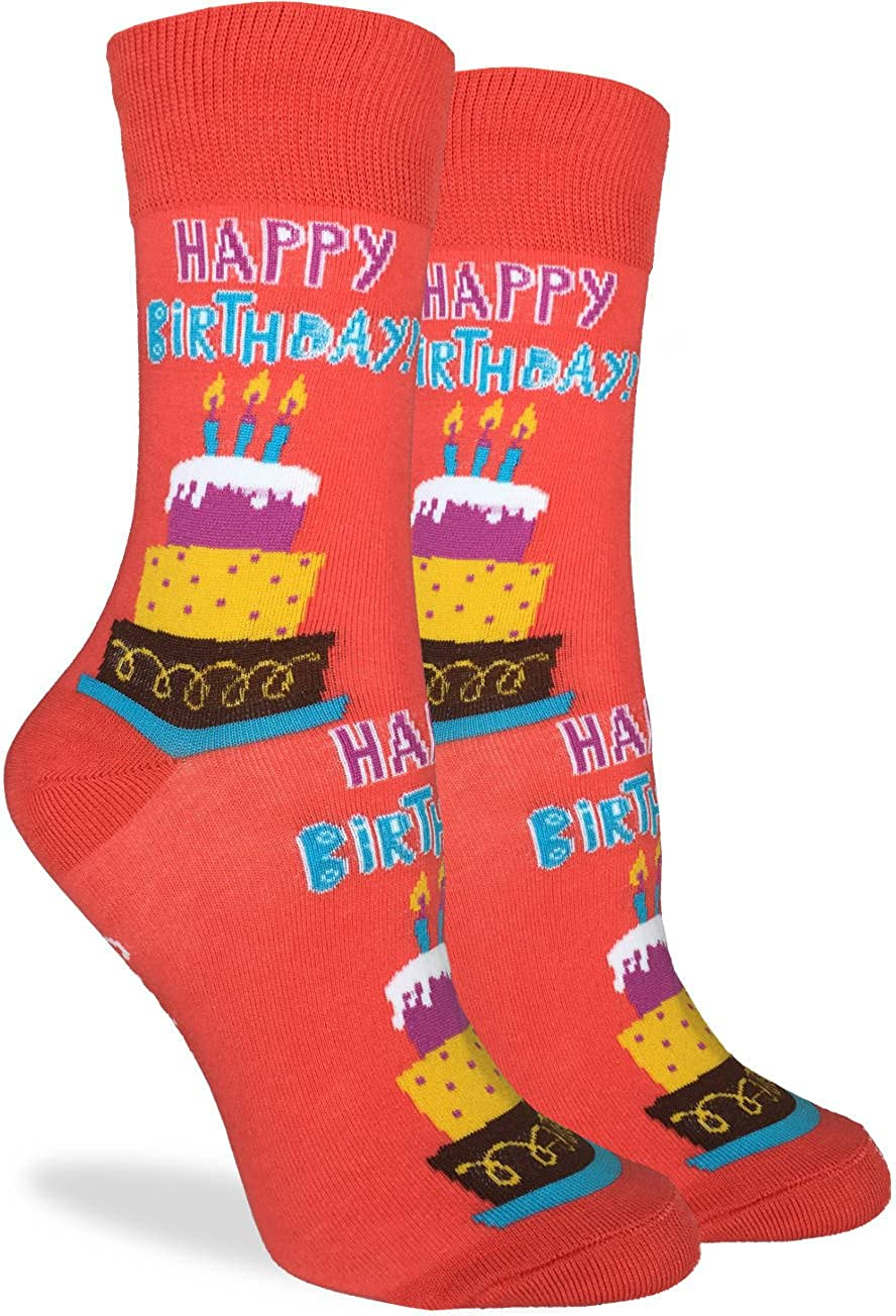 New Happy Socks Brand Womens Pair Of Combed Cotton Crew Socks ORIGINAL B#9