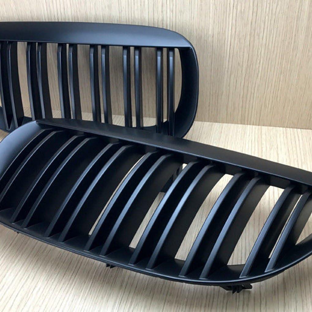 Fornateu 1 Paire ABS Noir Mat Chrome Inserts Garniture Mesh Grille Couverture pour E63 2004-2010