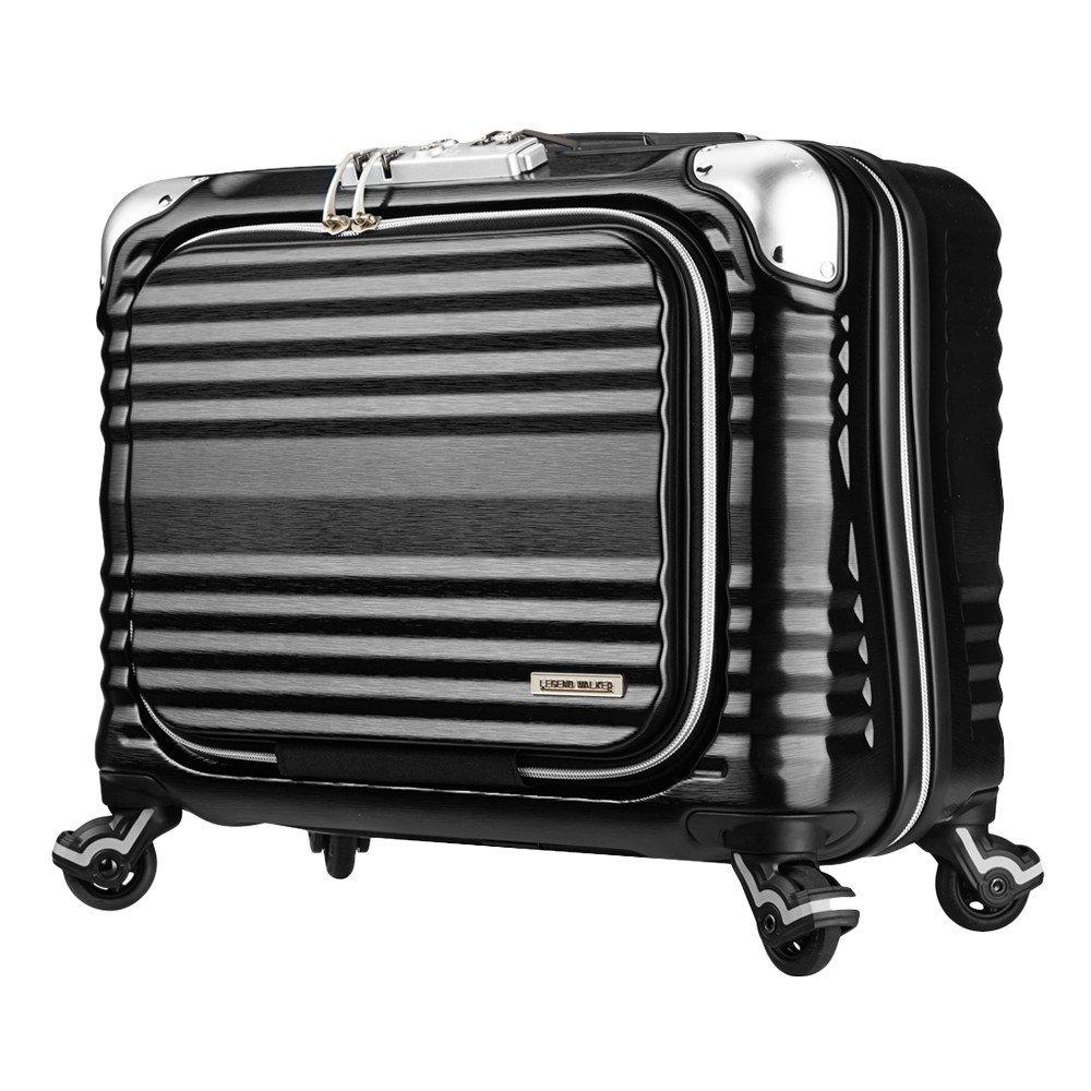 LEGEND WALKER PREMIUM GRAND BLADE ブレイド ビジネスキャリー スーツケース ハードケース フロントオープン 4輪 TSAロック 34L 機内持込可 6606-44 B01GPWPCSQ ブラック ブラック