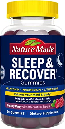 Nature Made Sleep and Recover with Melatonin 3mg for Supporting Restful Sleep 60 Count