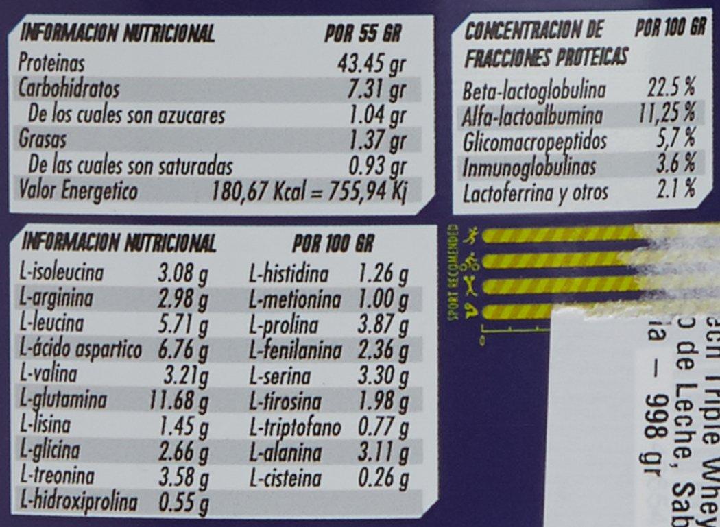 Revtech Triple Whey Proteína de Suero de Leche, Sabor a Vainilla Canela - 998 gr: Amazon.es: Salud y cuidado personal
