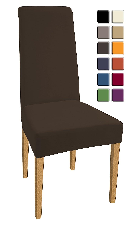 SCHEFFLER-HOME Natalie Housses pour Chaises 2 pièces, Stretch-Housse, Bi-élastique moderne Housse, Décor Couverture de chaise de matériau spandex avec bande élastique pour un ajustement univ