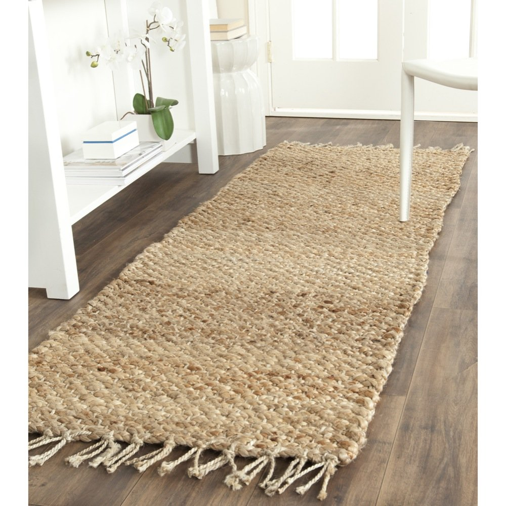 Safavieh Natural Fiber Collection NF733A Hand Woven Natural Jute Runner (2'3'' x 9')