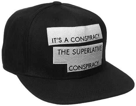 4b0c31ea WESC Men's Conspiracy Snapback Hat, Black, One Size: Amazon.co.uk ...