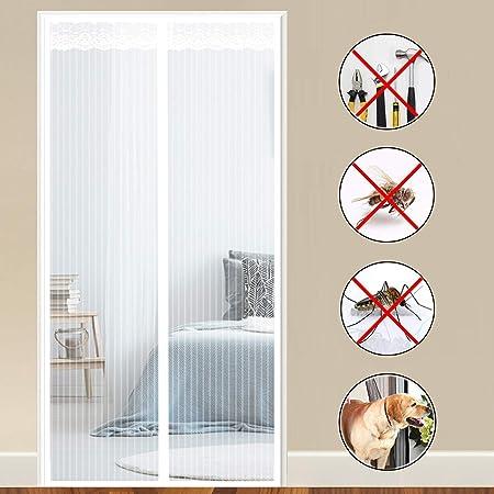 COAOC Mosquitera MagnéTica, Anti Insectos Moscas y Mosquitos Mosquiteras a Medida para Puertas Correderas/Balcones/Terraza - White 150x210cm(59x83inch): Amazon.es: Hogar