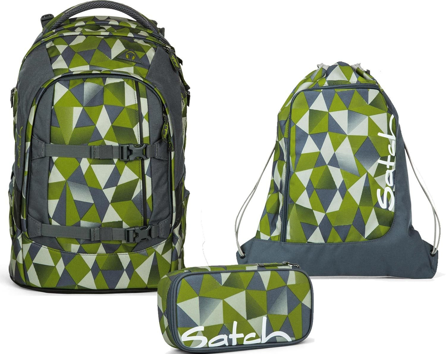 6f3b29fbeba1f Ergobag School Rucksack Set 3 Pieces Pack - Green Crush 9L1 Green Crush   Amazon.co.uk  Office Products