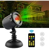 SROCKER Garden Laser Light Christmas Projector Lights with remote Moving Red and Green firefly for Holiday Parties Disco Decoration Indoors and Outdoors