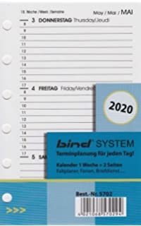 BIND B260220 - Recambio para agenda de gestión A6-2020, 1 ...