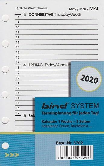 Amazon.com: Bind B570220 - Agenda para agenda semanal A7 ...