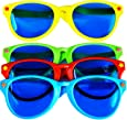 Sumind 4 Piezas de Gafas de Sol Jumbo Gafas de Fiesta de Plástico para Materiales de Fiesta de Playa Disfraces