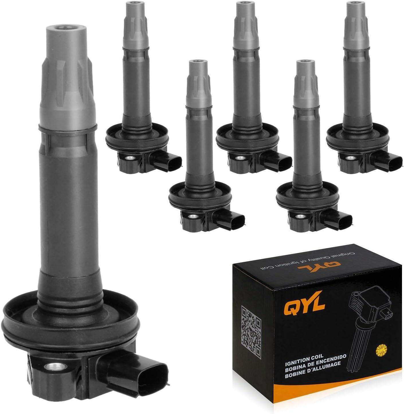 Set of 6 QYL Ignition Coil UF553 /& Spark Plug 5019 LTR5GP Replacement for Flex Taurus Edge MKS MKT MKZ MKX 3.5L V6