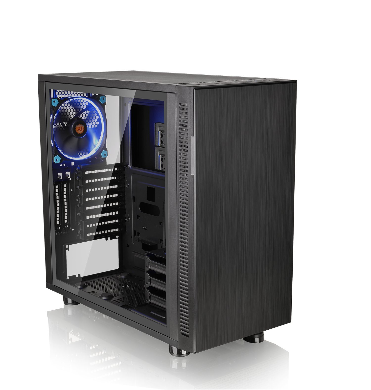 Thermaltake Suppressor F31 Tempered Glass Edition SPCC ATX Mid Tower Tt LCS Certified Ultra Quiet Gaming Silent Computer Chassis CA-1E3-00M1WN-03