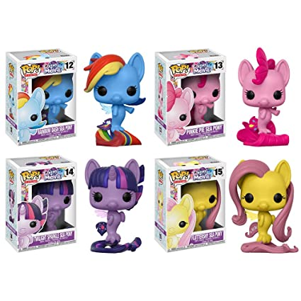 a365e0abf Image Unavailable. Image not available for. Color: My Little Pony Pop MLP  Movie Sea Ponies Rainbow Dash, Pinkie Pie, Twilight Sparkle