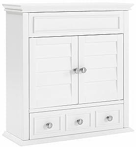 Crosley Furniture Lydia Bathroom Wall Cabinet - White