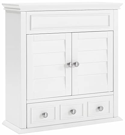Crosley Furniture Lydia Bathroom Wall Cabinet   White