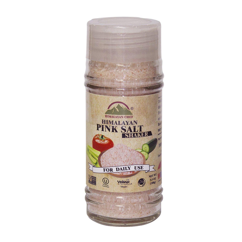 Himalayan Chef Pink Salt Shaker, 3.5 Ounce Fine Grains