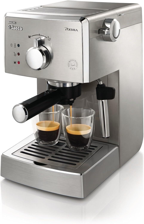 Saeco Poemia - Cafetera espresso, totalmente en acero inoxidable ...