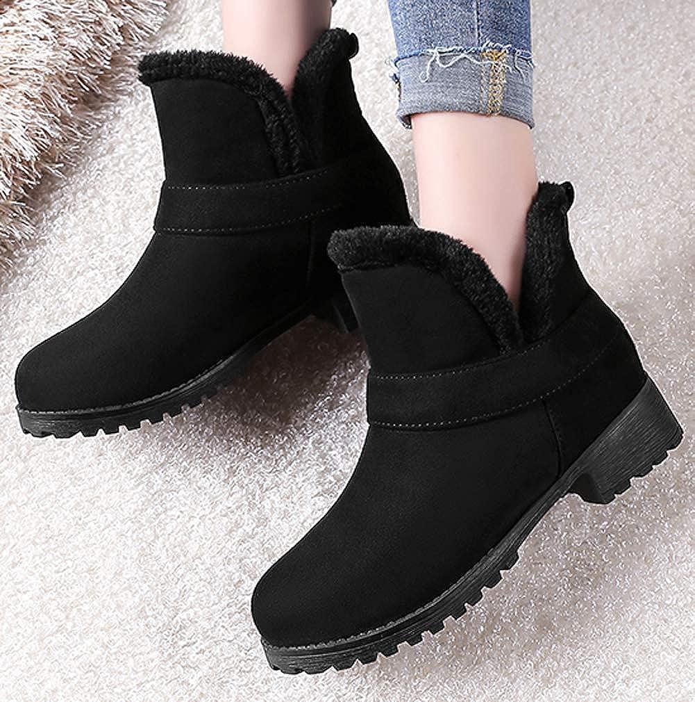 Qianliuk Damenschuhe Slip Auf Comfortable Winter Warm Girls Plush Snow Stiefel Girls Warm Ankle Outdoor Wanderschuhe 9def4f
