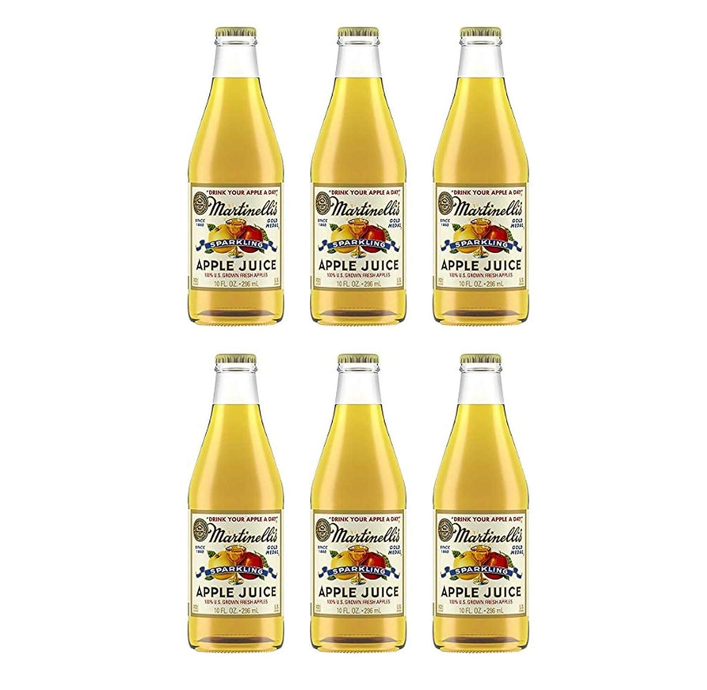 Martinellis Sparkling Apple Juice Glass Bottles (6 Pack, Total of 60fl.oz)