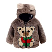 Boys Coats, SHOBDW Baby Bear Autumn Winter Hooded Thick Warm Coat Cloak Jacket Infant Clothes