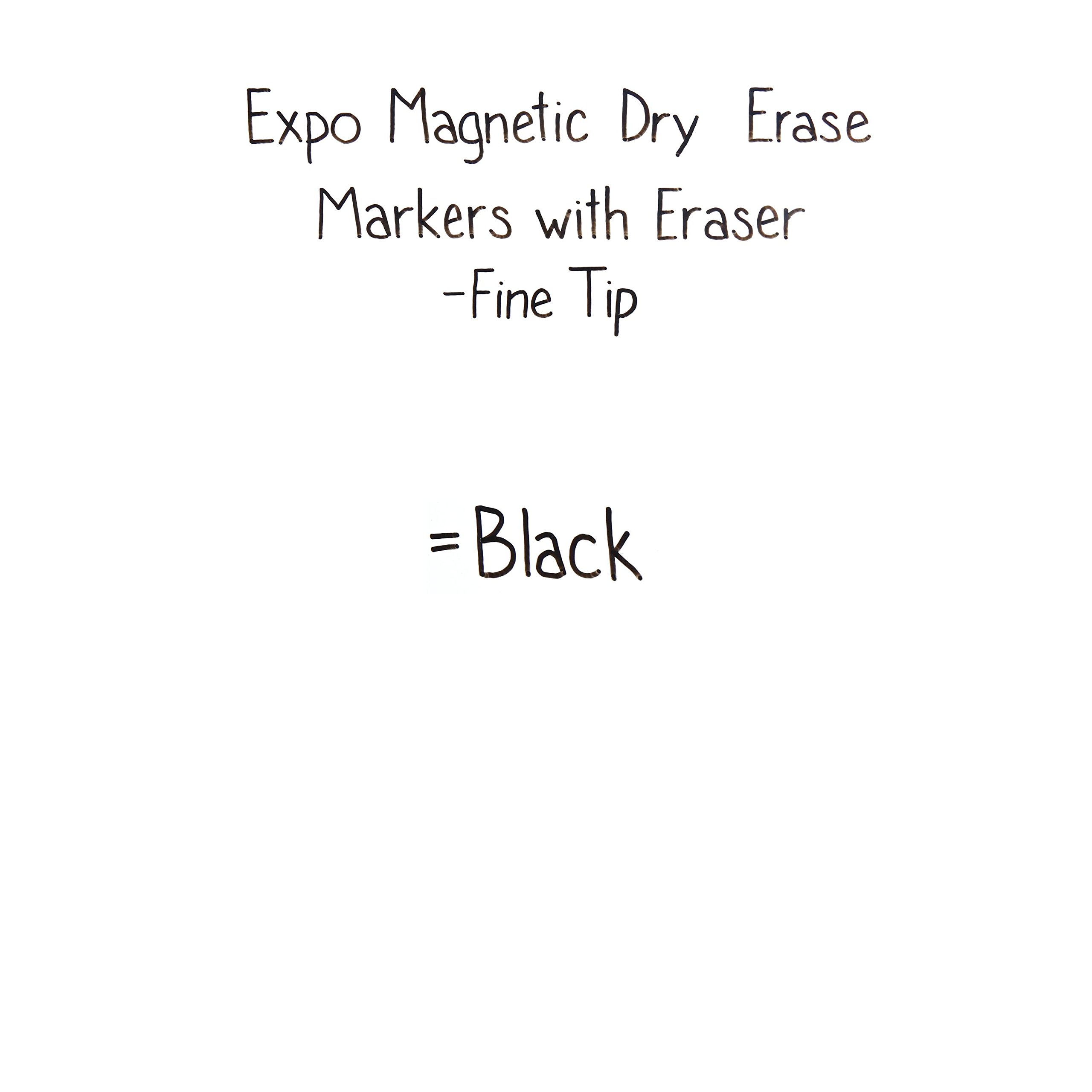 EXPO Magnetic Dry Erase Marker with Eraser, Fine Tip, Black, 12-Count by Expo (Image #5)