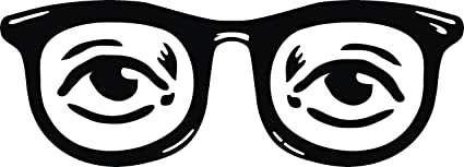 03687a8a95 Amazon.com  Simple Hipster Glasses and Eyes Drawing Cartoon Vinyl ...
