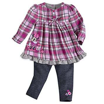 007db0b48 Image Unavailable. Image not available for. Color: Disney Minnie Mouse  Woven Dress and Pants Set Baby ...