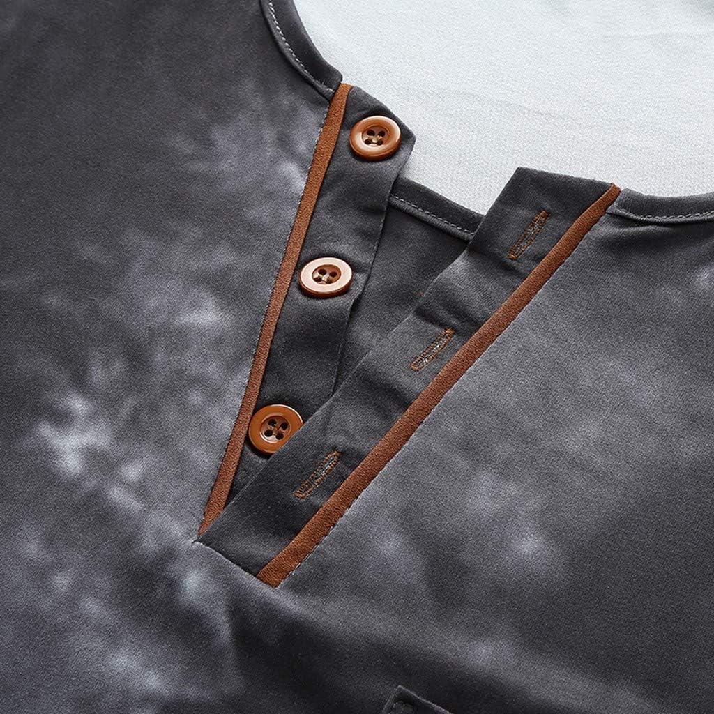 Leegor 2019 Slim Fitted Short Sleeves Blouse Casual Muscle Side Pocket Button V-Neck T-Shirts Breathable Batik Tops for Men