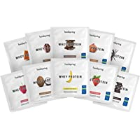 foodspring Whey Protein poeder,10-Pack,10 x 30g, Poedervormige formule met hoog proteïnegehalte voor de spieropbouw…