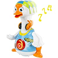 Toyshine Battery Operated Non-Toxic Interactive Swing Goose Toy (Multicolour)