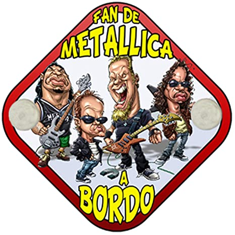 Placa bebé a bordo fan de parodia Metallica a bordo