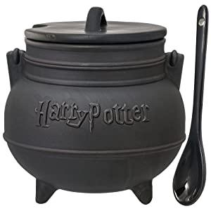 Harry Potter Black Cauldron Ceramic Soup Mug With SpoonGY#583-4 6-DFG282752