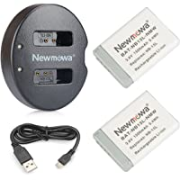 NB-13L Newmowa Battery (2 Pack) and Dual USB Charger for Canon NB-13L and PowerShot G5X,PowerShot G7X,PowerShot G9X …