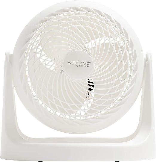IRIS USA WOOZOO Quiet Personal Air Circulating Fan, 12 inch Large Table Fan, White